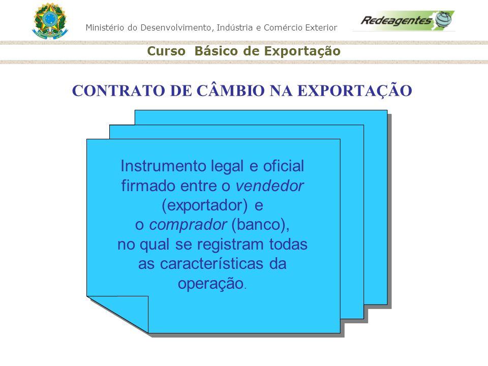 CONTRATO DE CÂMBIO NA EXPORTAÇÃO