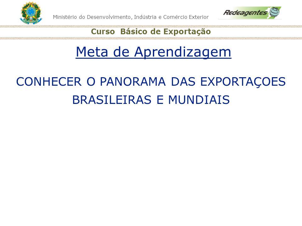 CONHECER O PANORAMA DAS EXPORTAÇOES BRASILEIRAS E MUNDIAIS