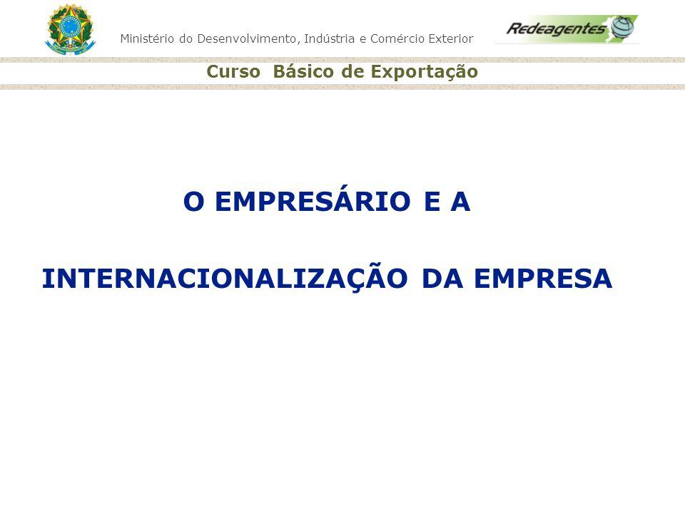 INTERNACIONALIZAÇÃO DA EMPRESA