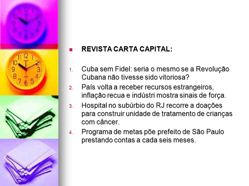 REVISTA CARTA CAPITAL: