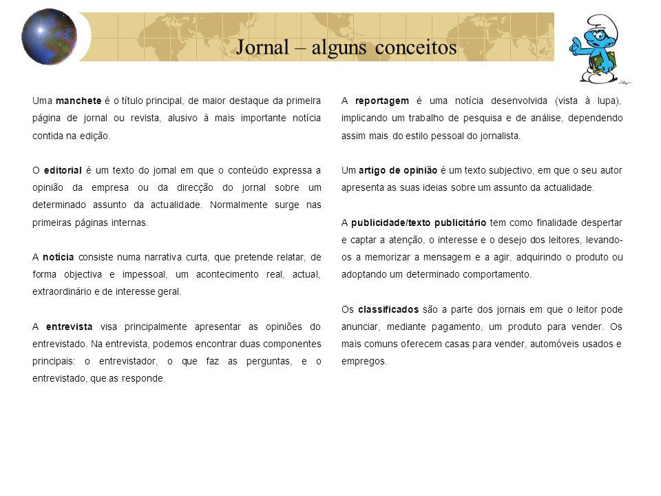 Jornal – alguns conceitos