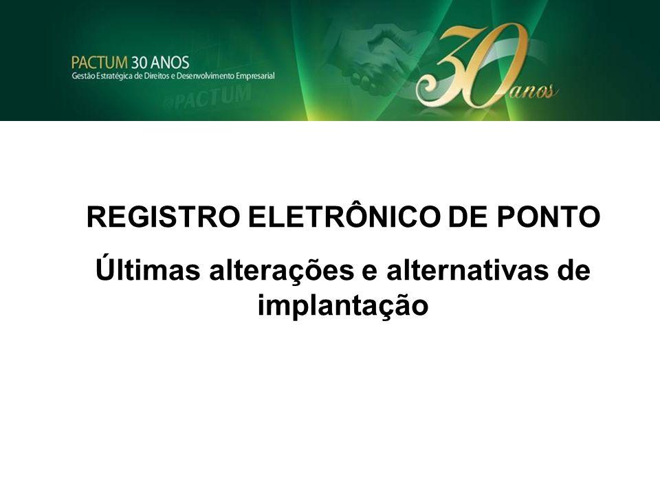 REGISTRO ELETRÔNICO DE PONTO