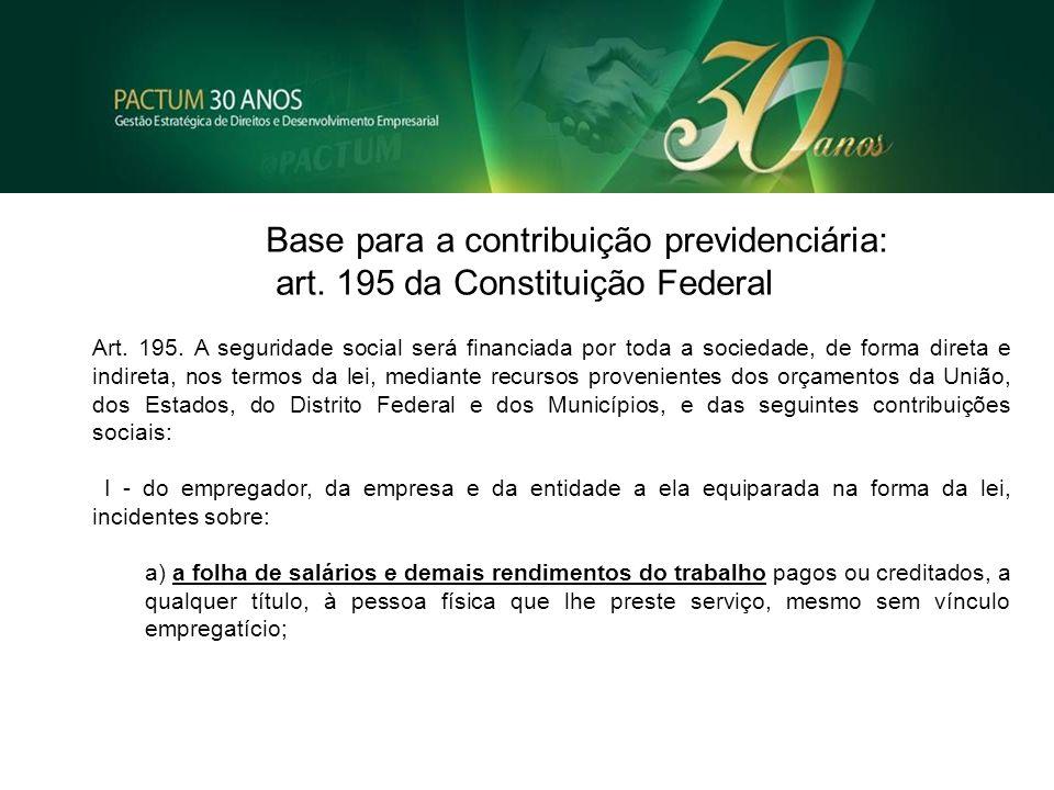 art. 195 da Constituição Federal