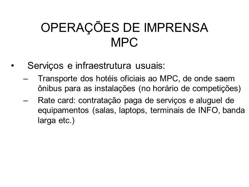 OPERAÇÕES DE IMPRENSA MPC