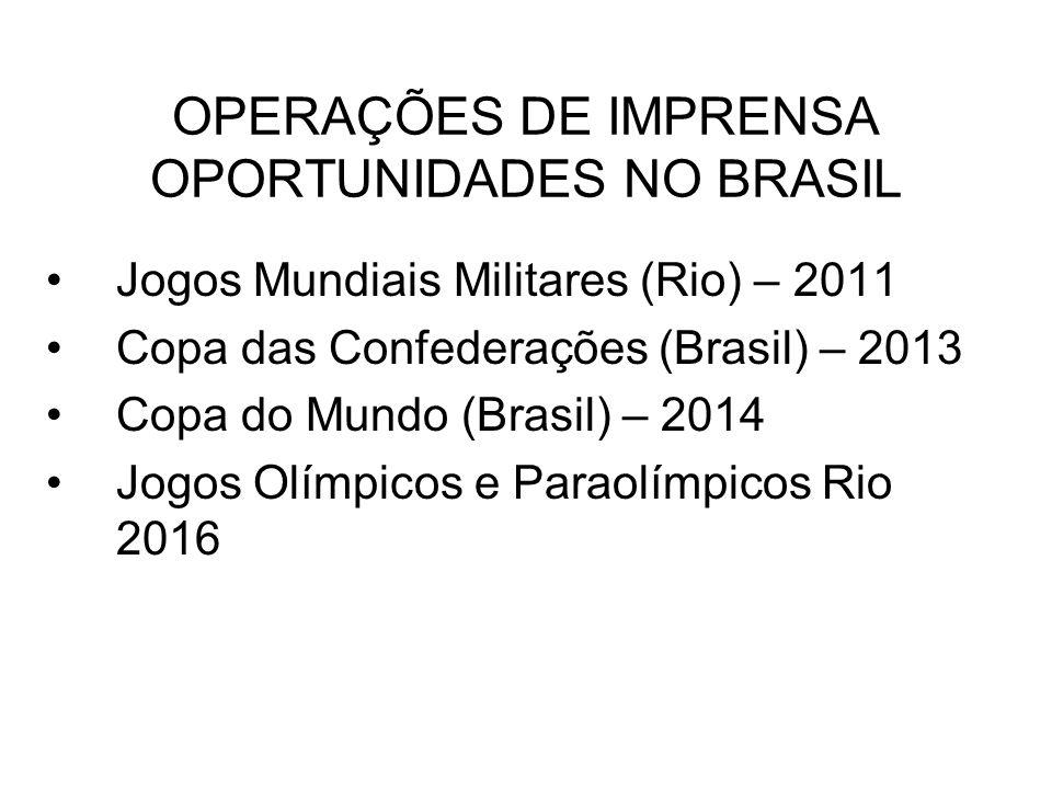 OPERAÇÕES DE IMPRENSA OPORTUNIDADES NO BRASIL