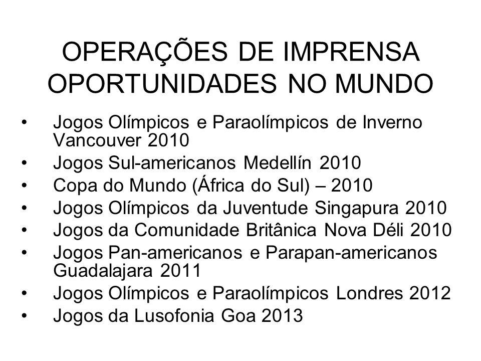 OPERAÇÕES DE IMPRENSA OPORTUNIDADES NO MUNDO