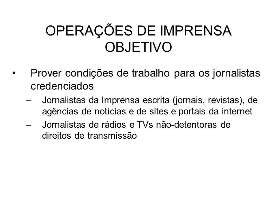 OPERAÇÕES DE IMPRENSA OBJETIVO