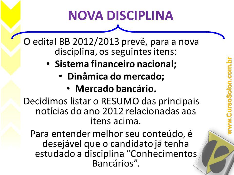 Sistema financeiro nacional;