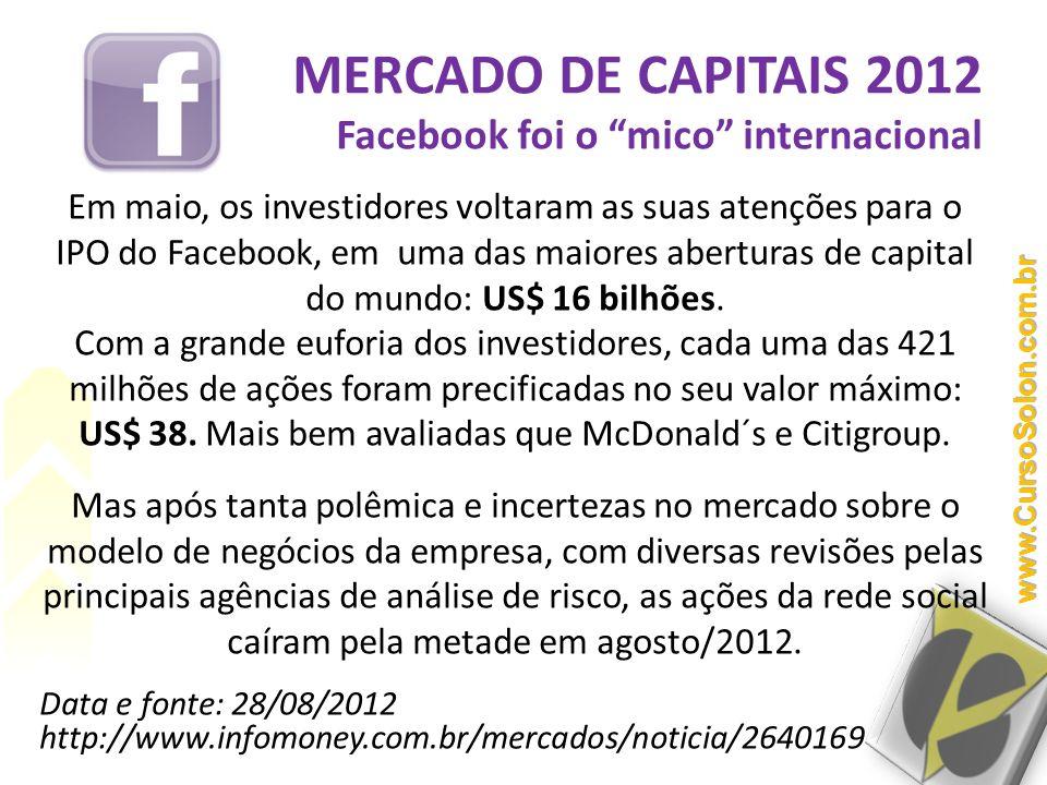 MERCADO DE CAPITAIS 2012 Facebook foi o mico internacional
