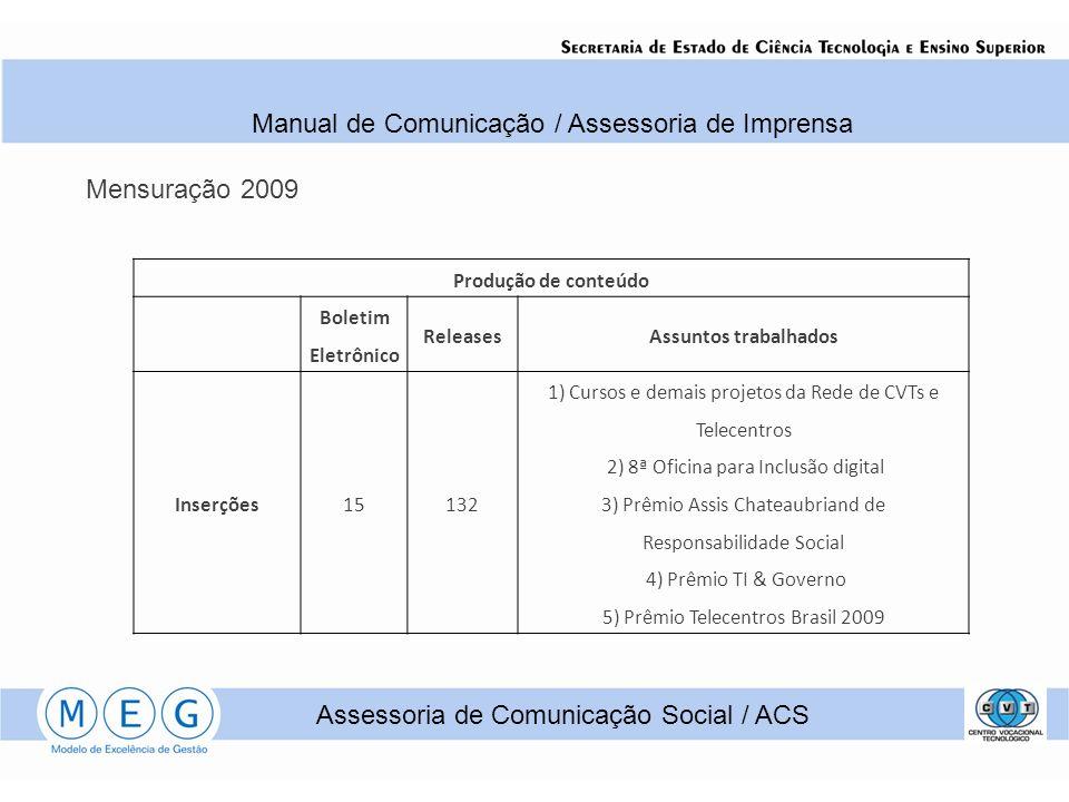 Manual de Comunicação / Assessoria de Imprensa