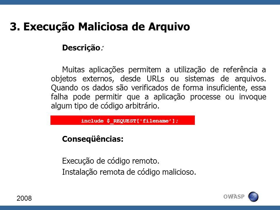 3. Execução Maliciosa de Arquivo