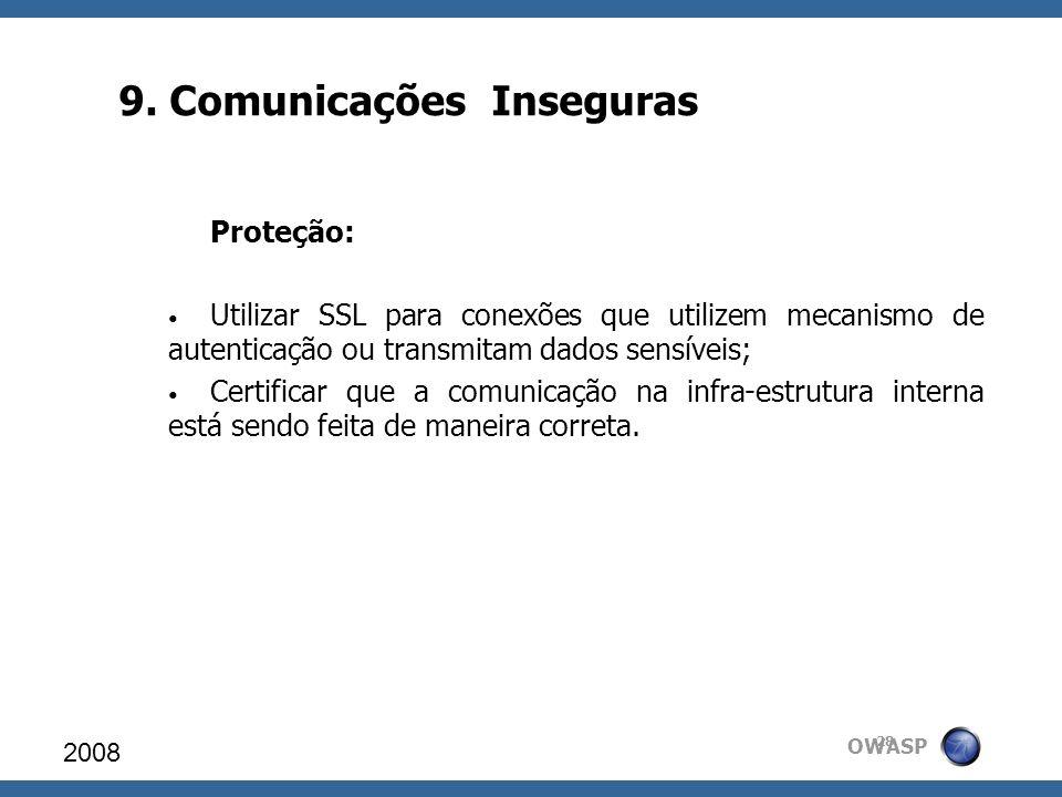 9. Comunicações Inseguras