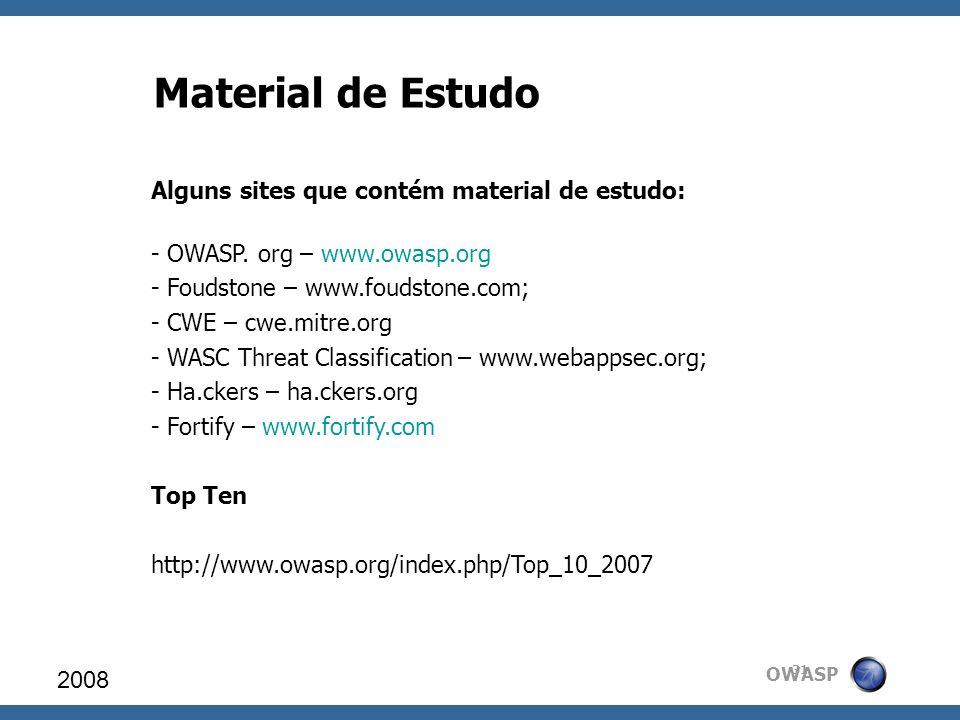 Material de Estudo Alguns sites que contém material de estudo: