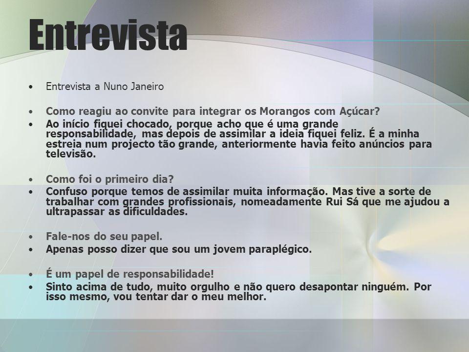 Entrevista Entrevista a Nuno Janeiro