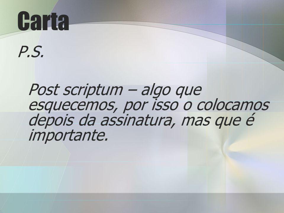 Carta P.S.