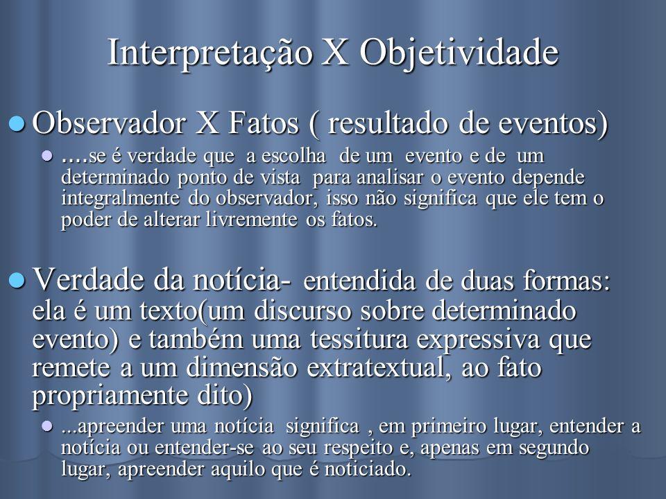 Interpretação X Objetividade