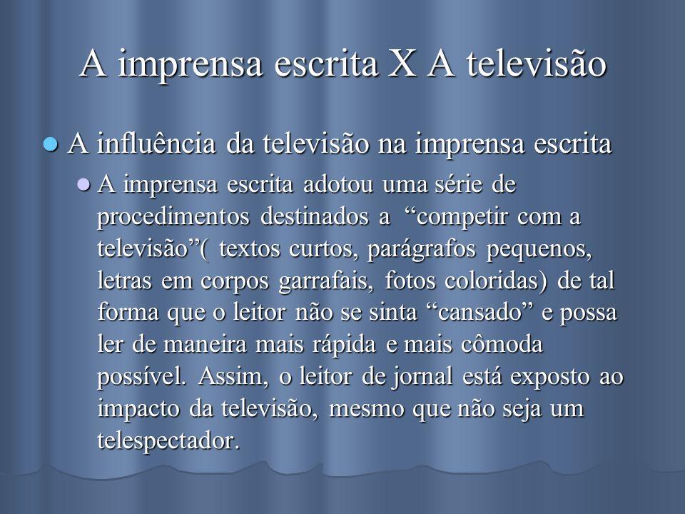 A imprensa escrita X A televisão