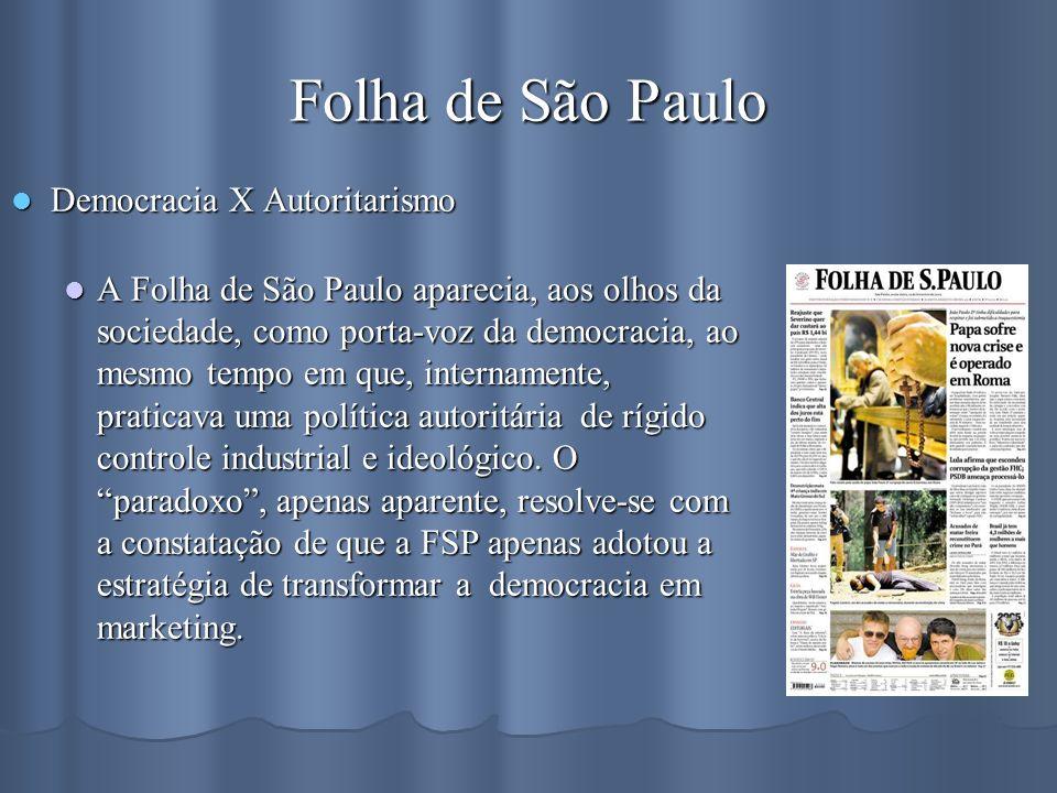 Folha de São Paulo Democracia X Autoritarismo