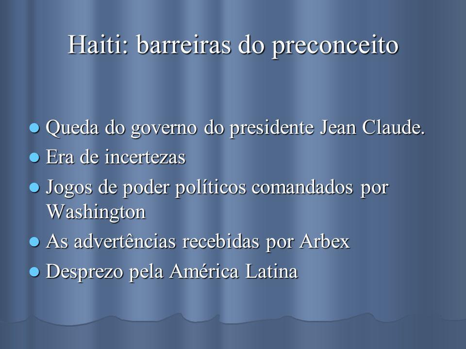Haiti: barreiras do preconceito