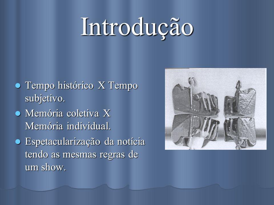 Introdução Tempo histórico X Tempo subjetivo.