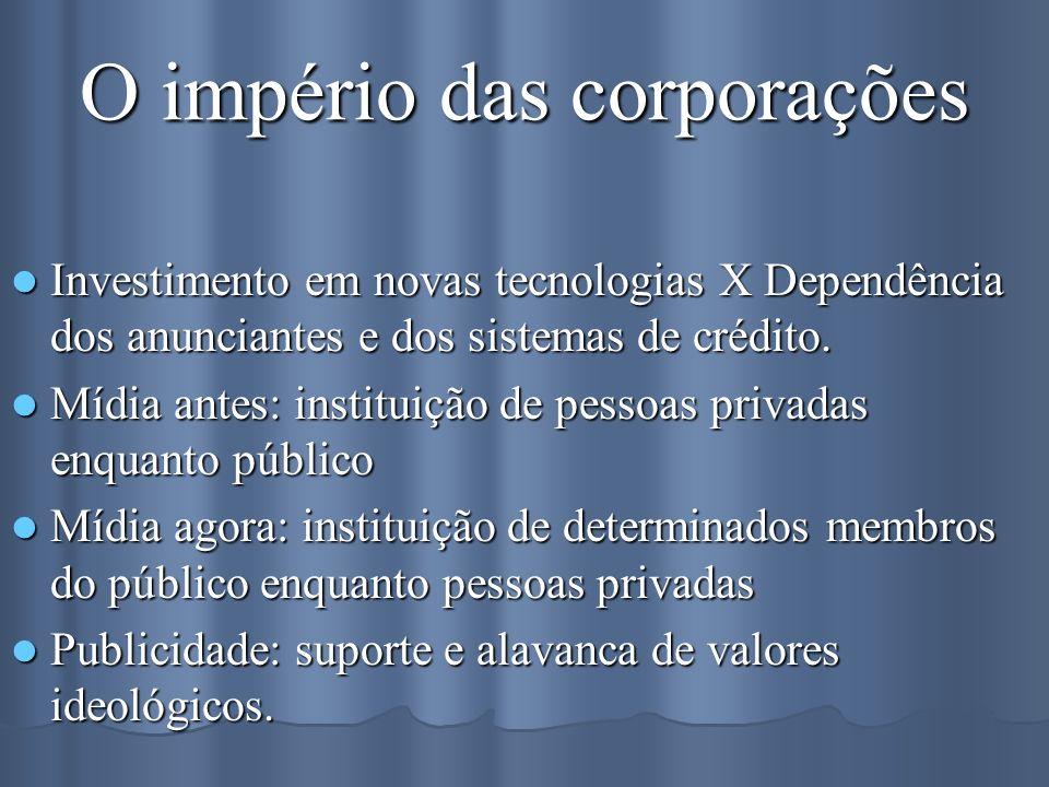 O império das corporações