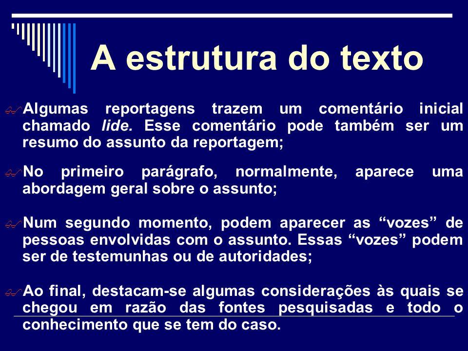 A estrutura do texto