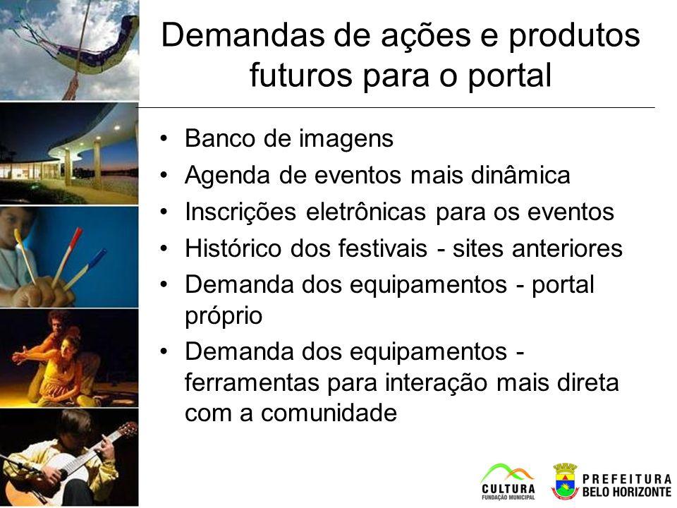 Demandas de ações e produtos futuros para o portal