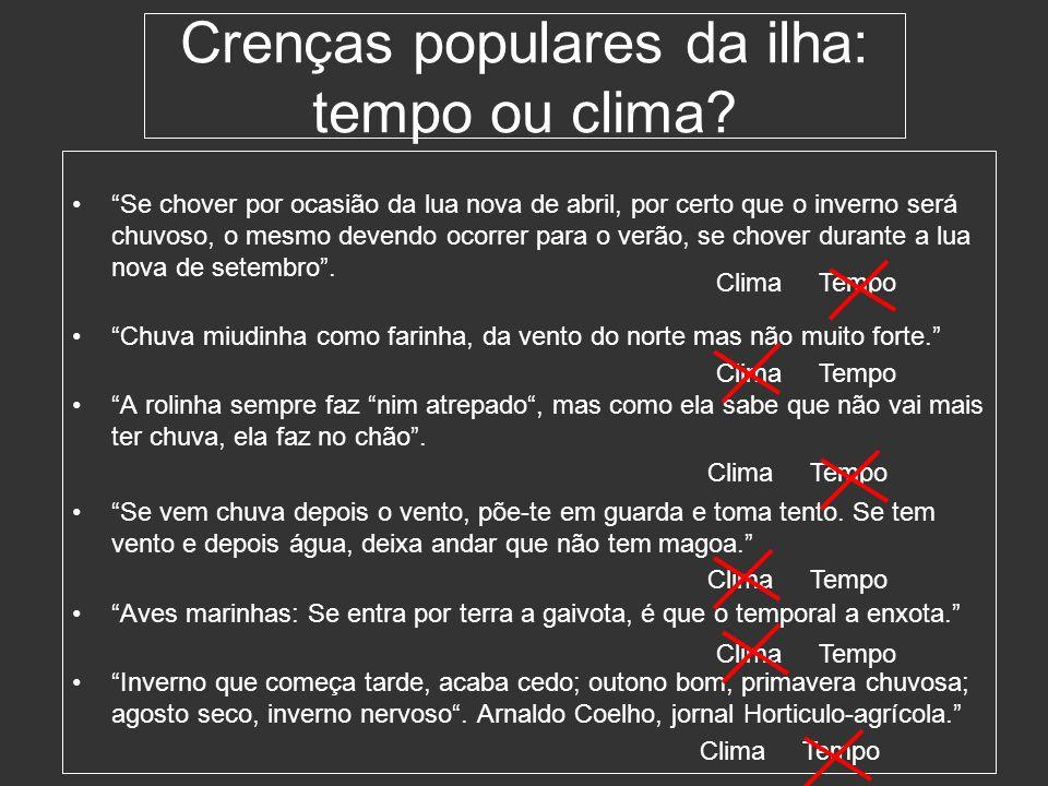 Crenças populares da ilha: tempo ou clima