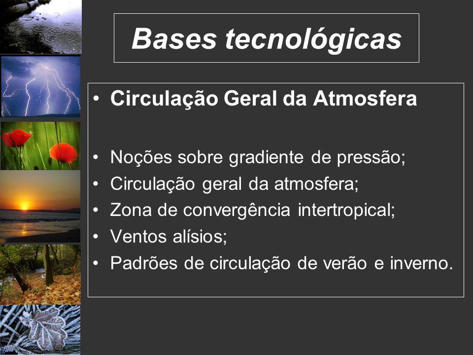 Bases tecnológicas Circulação Geral da Atmosfera