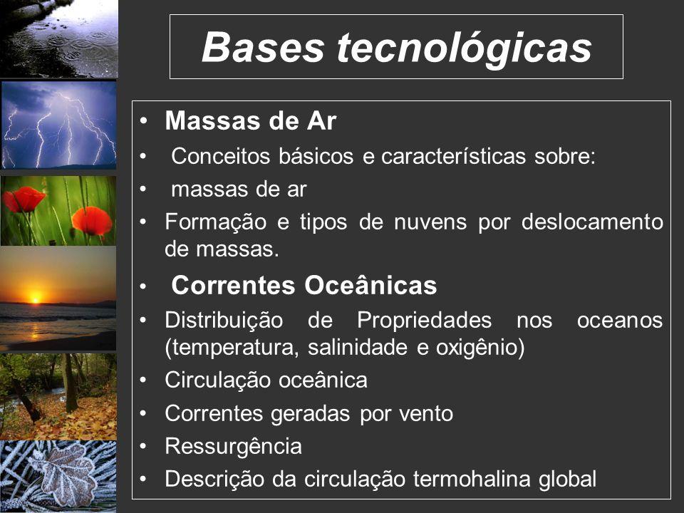 Bases tecnológicas Massas de Ar