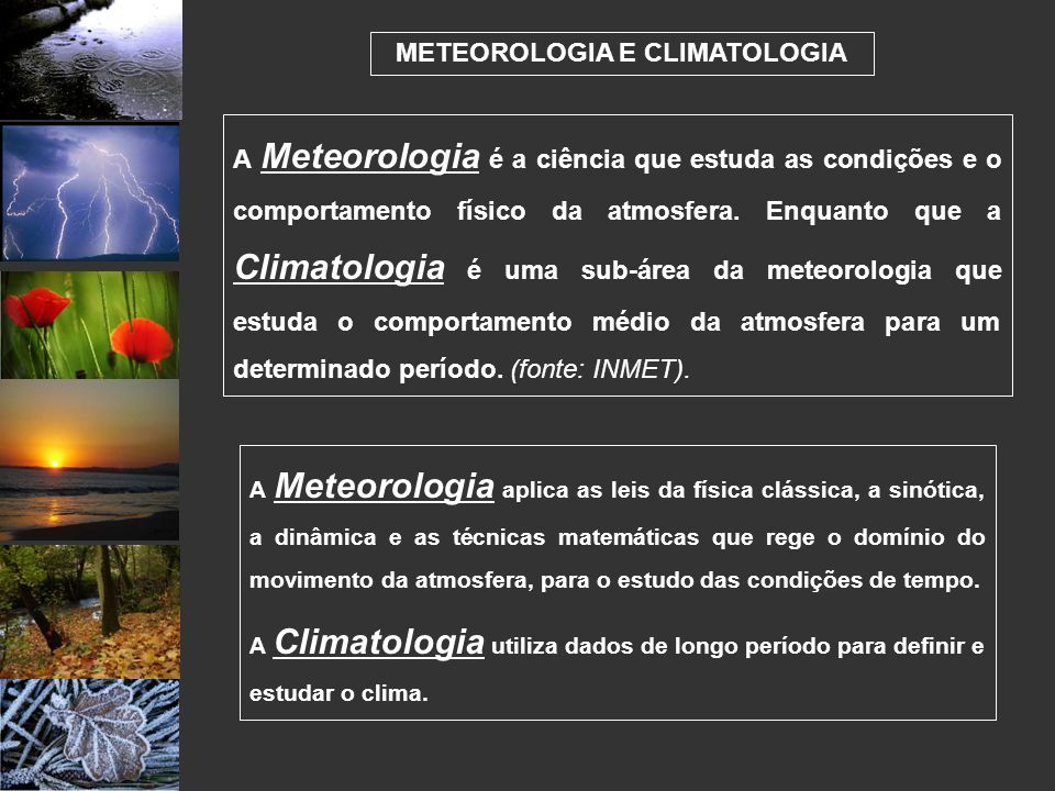 METEOROLOGIA E CLIMATOLOGIA