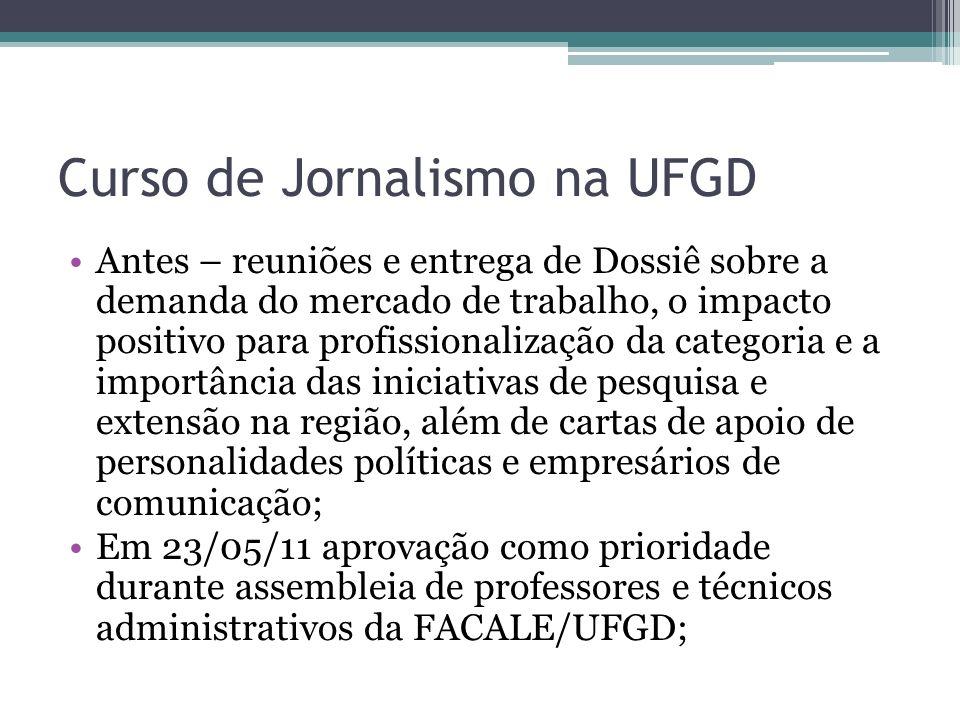 Curso de Jornalismo na UFGD