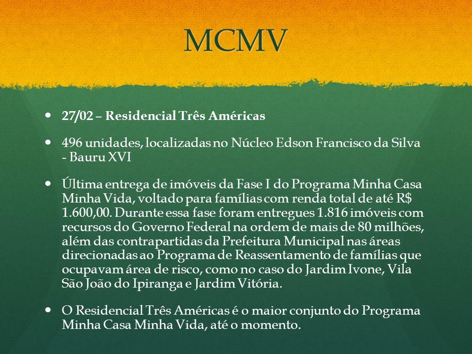 MCMV 27/02 – Residencial Três Américas