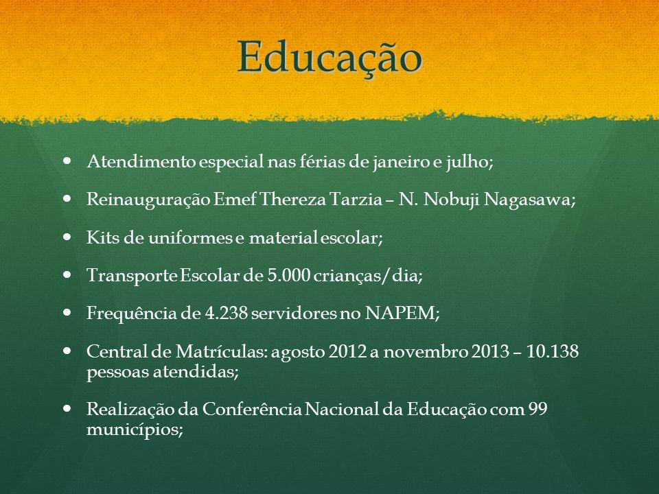 Educação Atendimento especial nas férias de janeiro e julho;