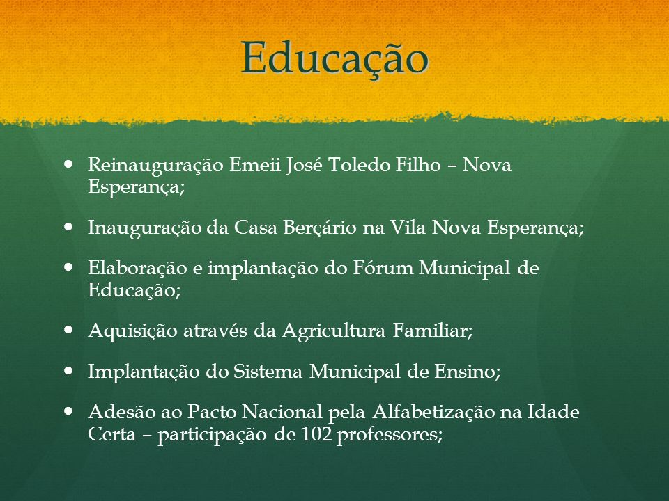 Educação Reinauguração Emeii José Toledo Filho – Nova Esperança;
