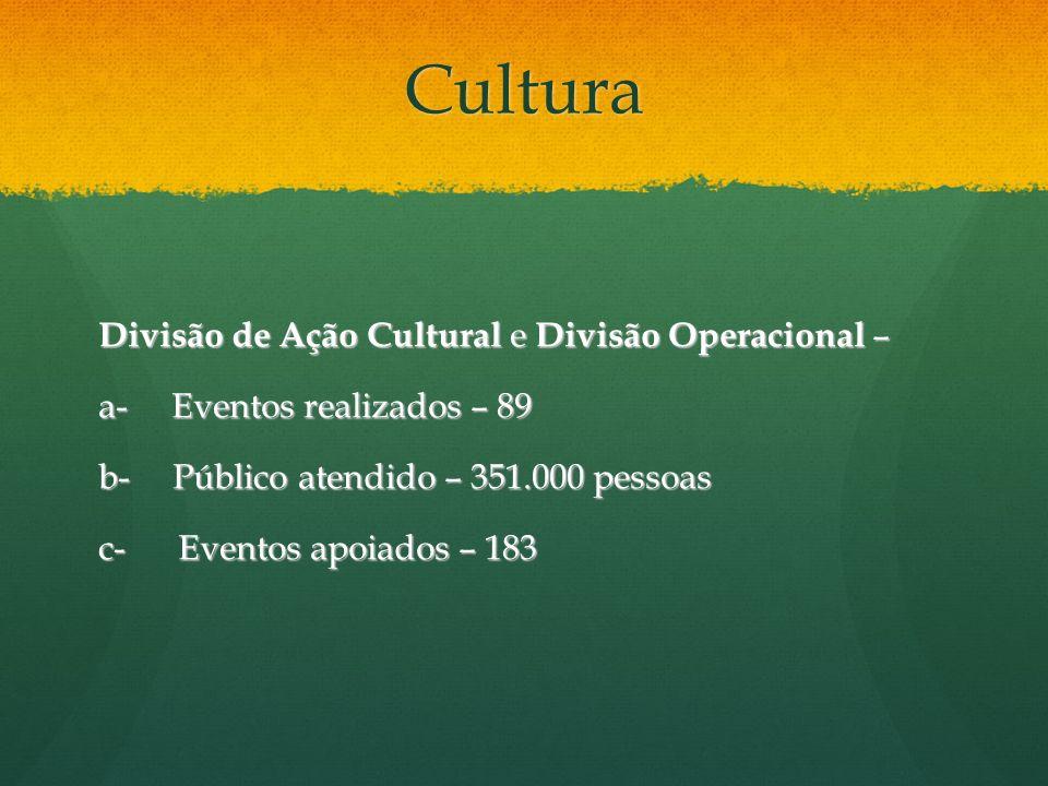 Cultura Divisão de Ação Cultural e Divisão Operacional –