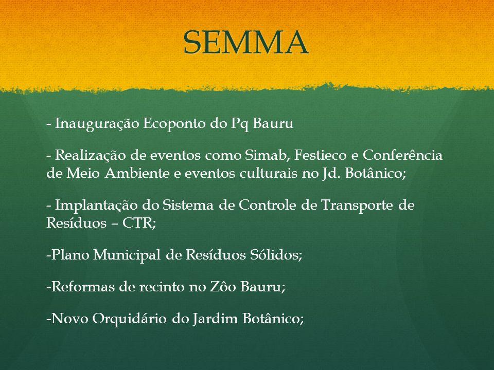 SEMMA - Inauguração Ecoponto do Pq Bauru