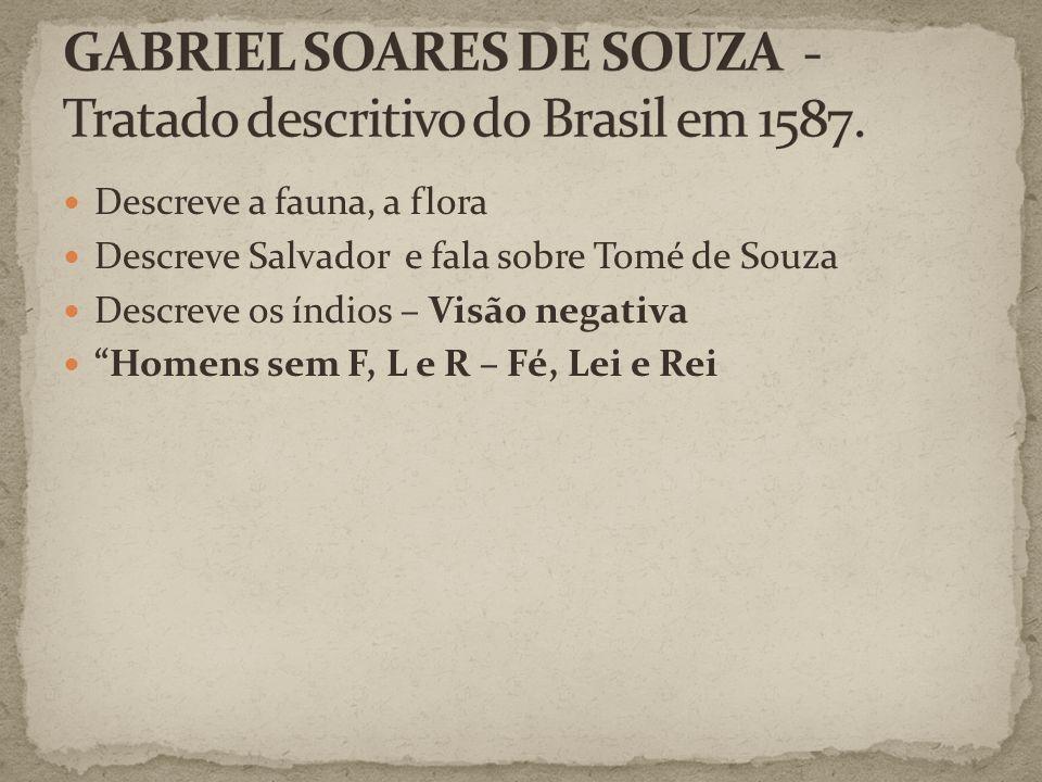 GABRIEL SOARES DE SOUZA - Tratado descritivo do Brasil em 1587.