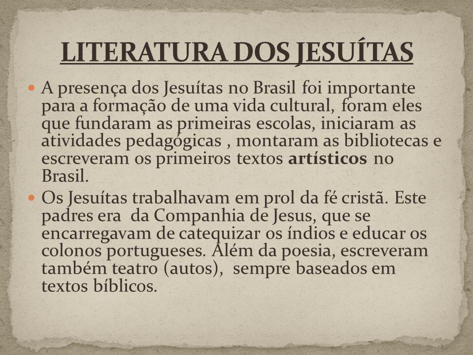 LITERATURA DOS JESUÍTAS