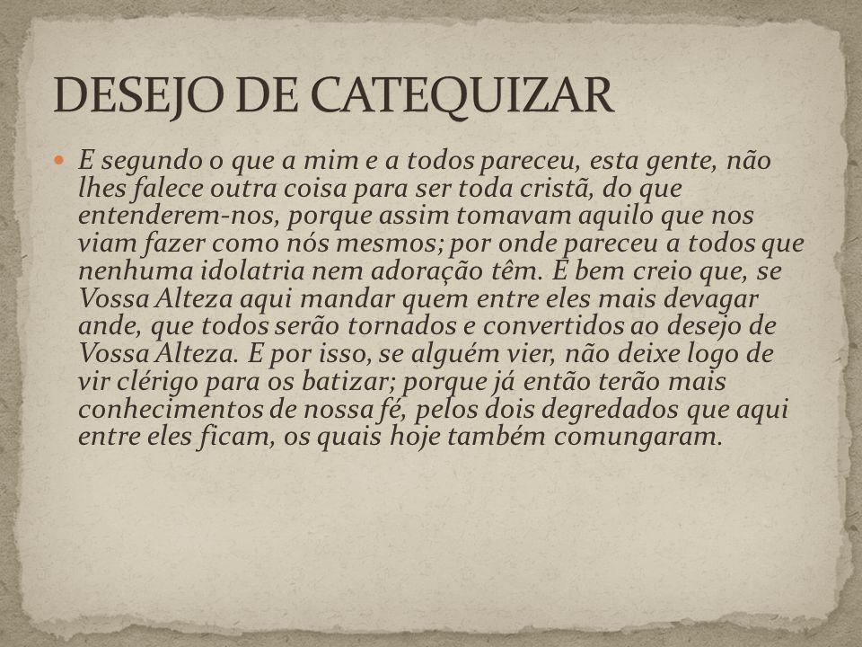 DESEJO DE CATEQUIZAR