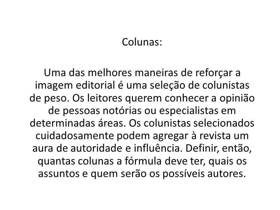 Colunas: