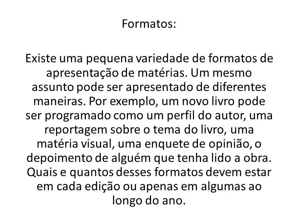 Formatos: