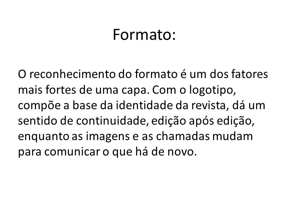 Formato: