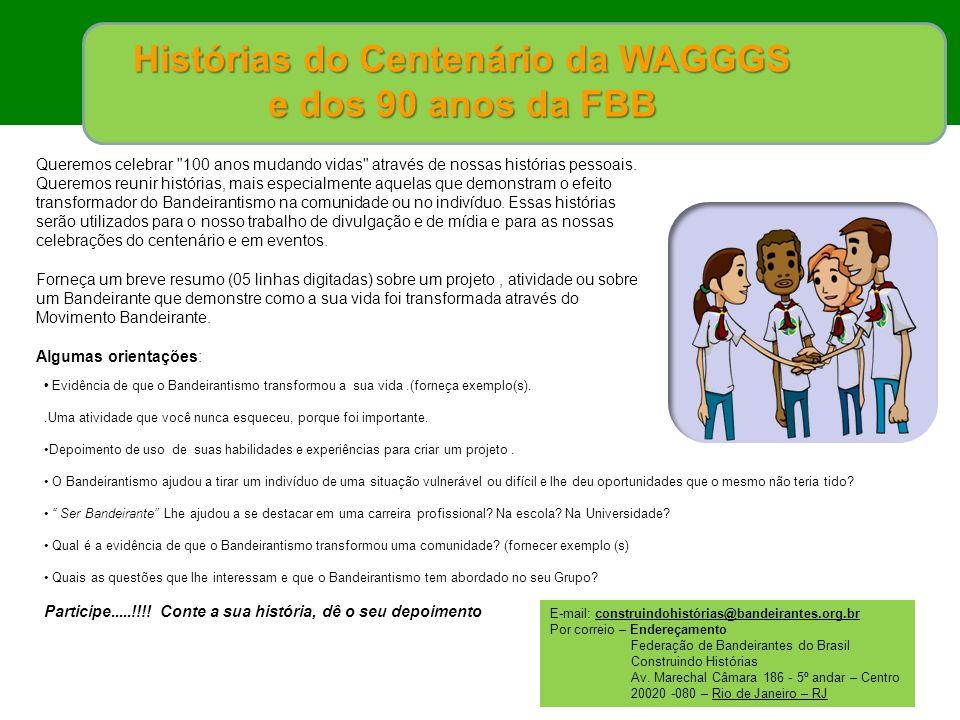 Histórias do Centenário da WAGGGS