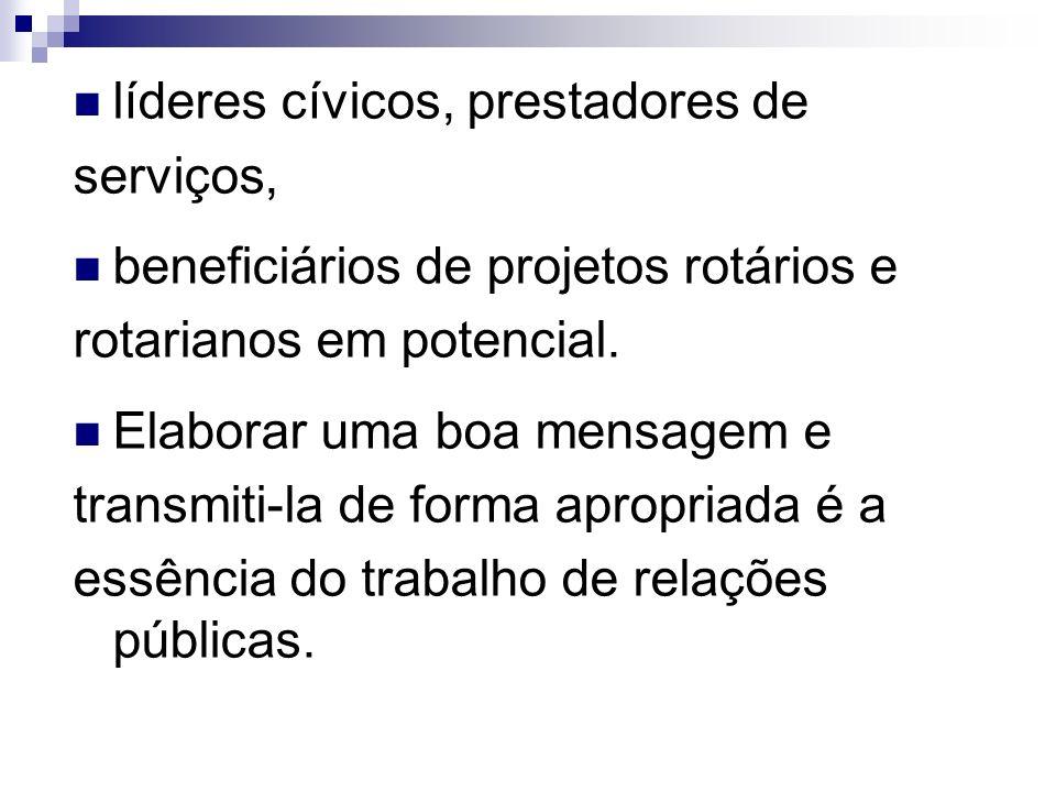 líderes cívicos, prestadores de