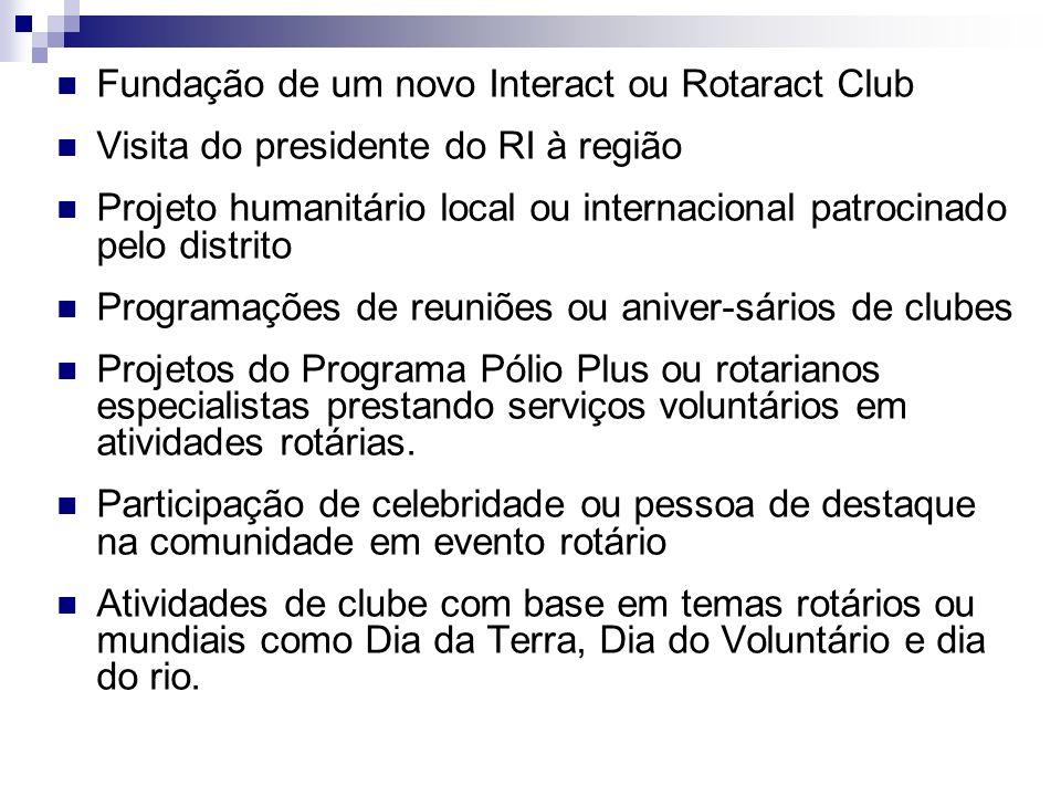 Fundação de um novo Interact ou Rotaract Club