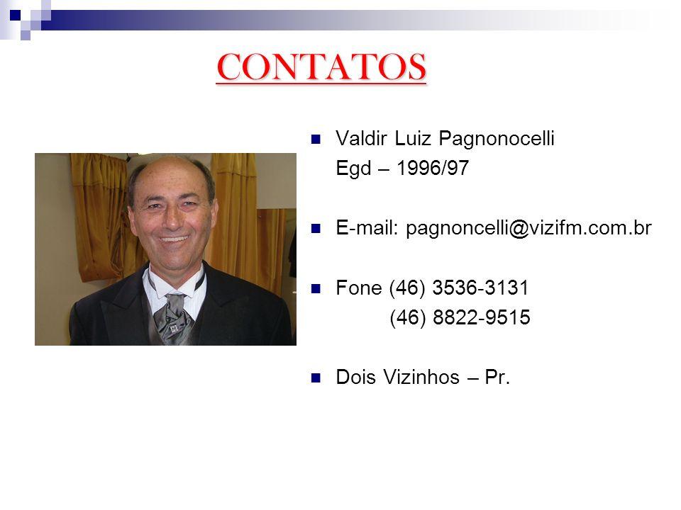 CONTATOS Valdir Luiz Pagnonocelli Egd – 1996/97