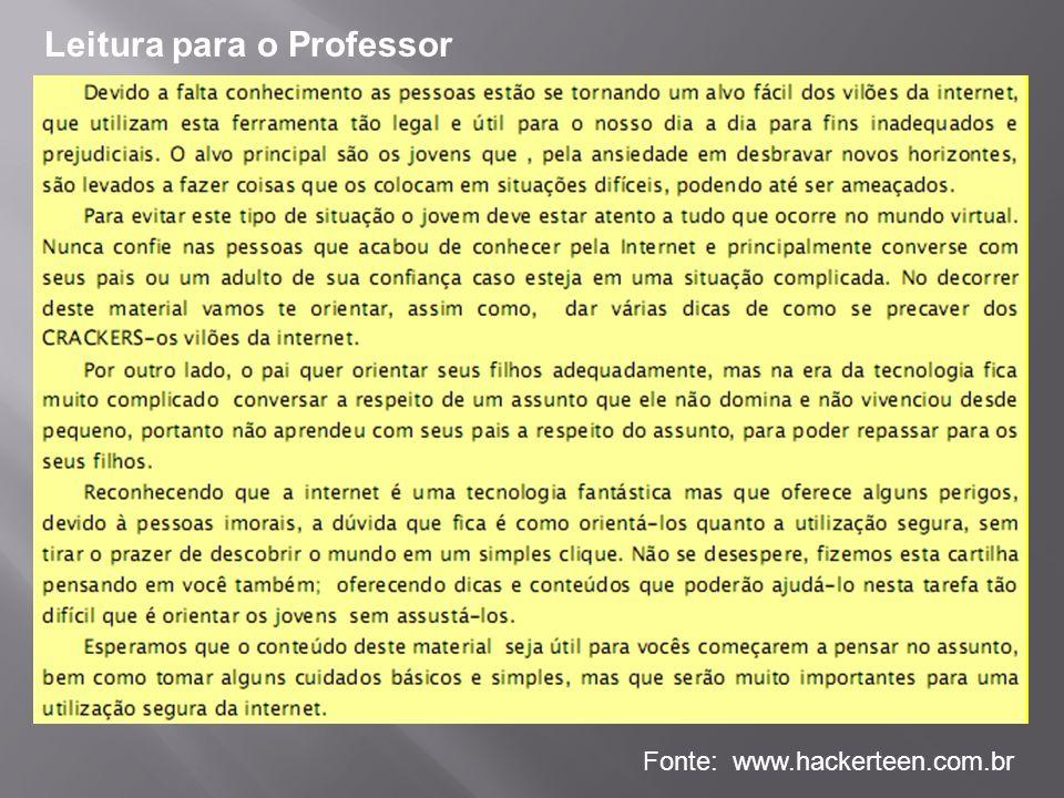 Leitura para o Professor