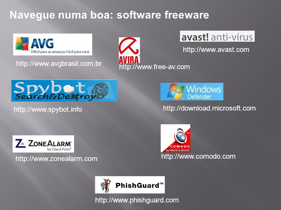 Navegue numa boa: software freeware