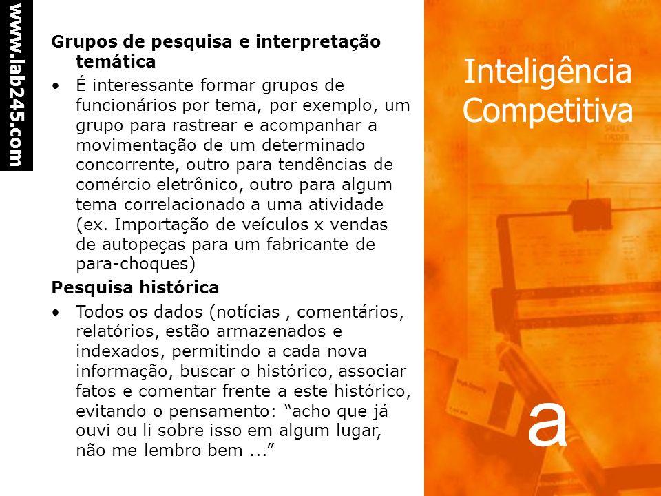 Grupos de pesquisa e interpretação temática